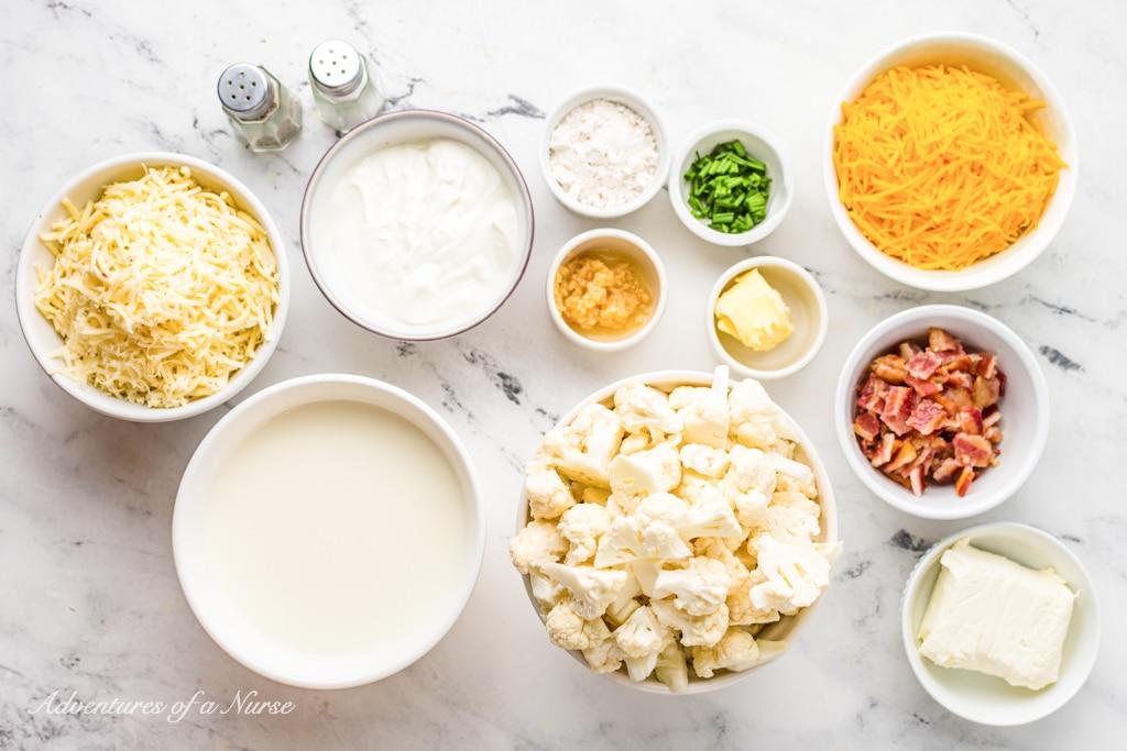 Cauliflower Bake Ingredients