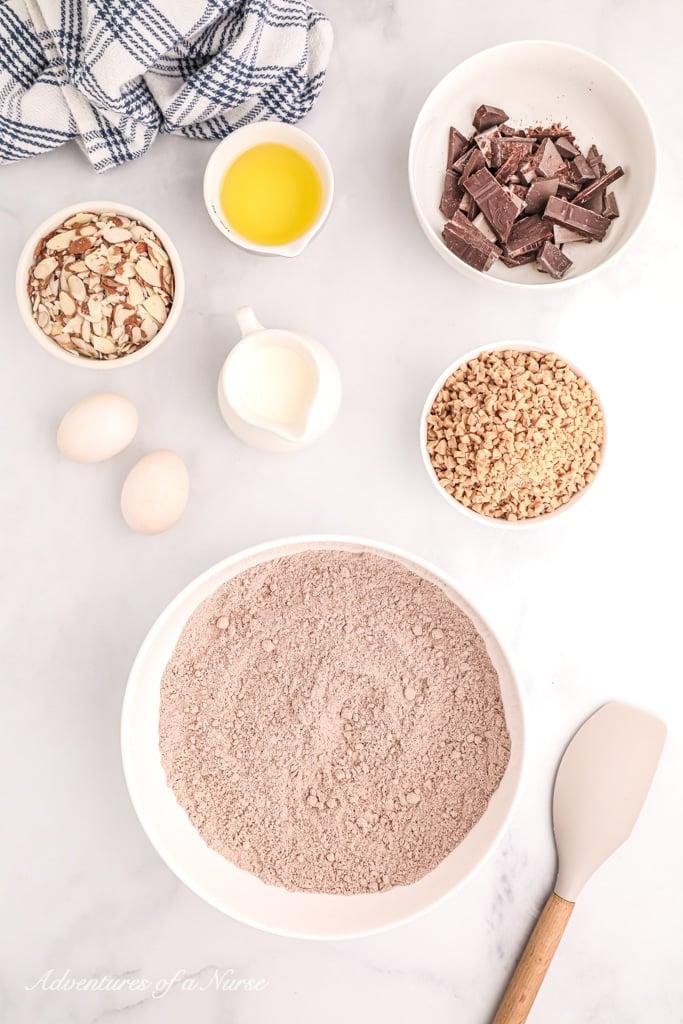 Ingredients for heath brownies
