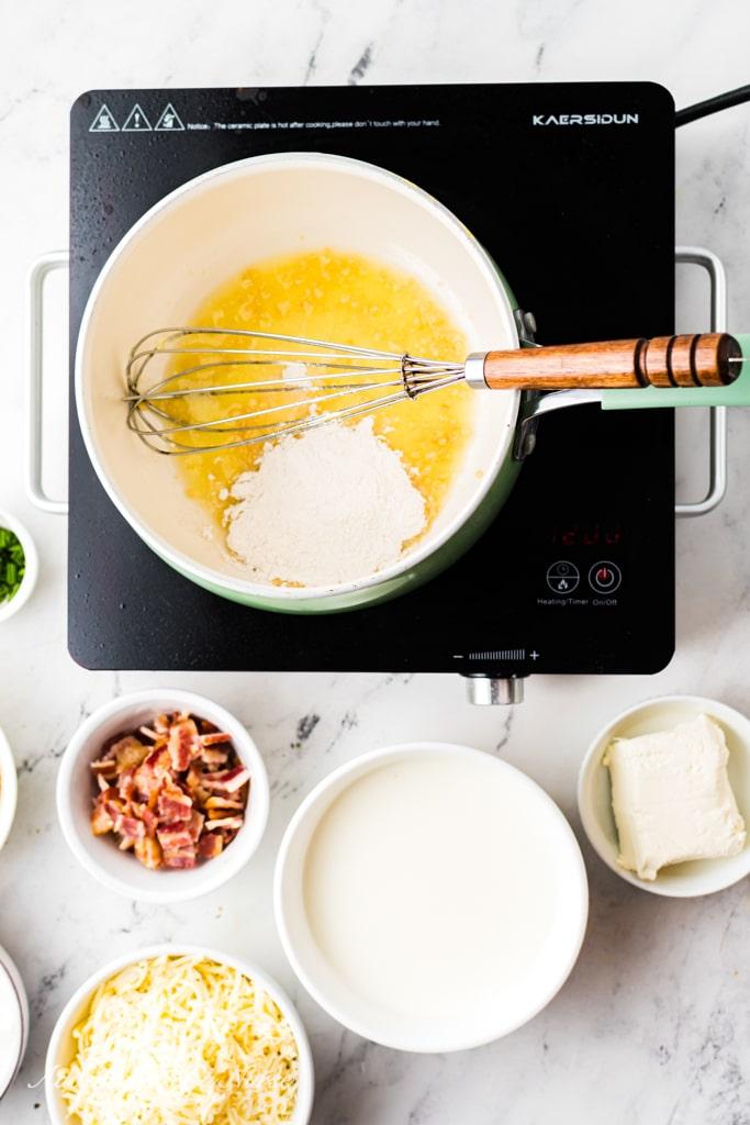 Process Melt butter cauliflower