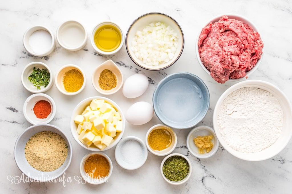 Ingredients for Ingredients for Jamaican Patties